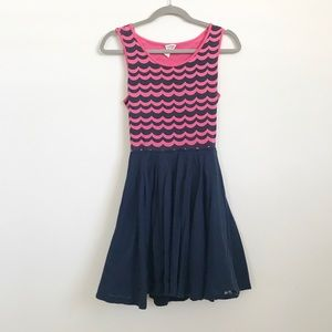 Tommy Girl Pink and Navy Dress